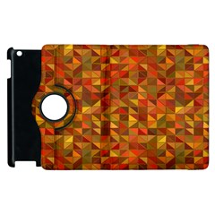 Gold Mosaic Background Pattern Apple Ipad 2 Flip 360 Case