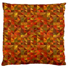 Gold Mosaic Background Pattern Large Flano Cushion Case (one Side) by Nexatart