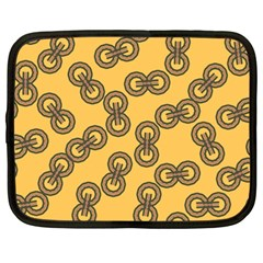 Abstract Shapes Links Design Netbook Case (large) by Nexatart