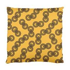 Abstract Shapes Links Design Standard Cushion Case (one Side) by Nexatart