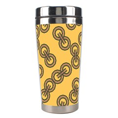 Abstract Shapes Links Design Stainless Steel Travel Tumblers
