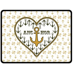 Anchor Heart Double Sided Fleece Blanket (large)  by Nexatart