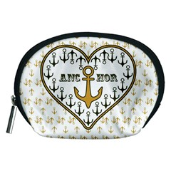 Anchor Heart Accessory Pouches (medium)  by Nexatart