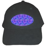 Background Mosaic Purple Blue Black Cap Front