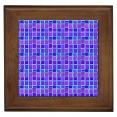 Background Mosaic Purple Blue Framed Tiles by Nexatart