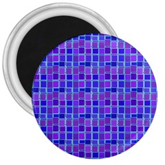 Background Mosaic Purple Blue 3  Magnets