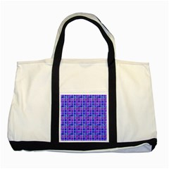 Background Mosaic Purple Blue Two Tone Tote Bag
