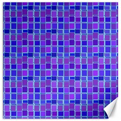 Background Mosaic Purple Blue Canvas 12  X 12   by Nexatart