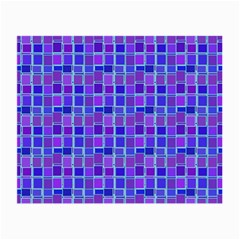 Background Mosaic Purple Blue Small Glasses Cloth (2 Side)