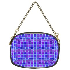 Background Mosaic Purple Blue Chain Purses (one Side)