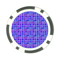 Background Mosaic Purple Blue Poker Chip Card Guard (10 Pack)