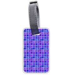 Background Mosaic Purple Blue Luggage Tags (two Sides) by Nexatart