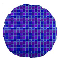 Background Mosaic Purple Blue Large 18  Premium Round Cushions by Nexatart
