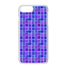 Background Mosaic Purple Blue Apple Iphone 7 Plus White Seamless Case by Nexatart