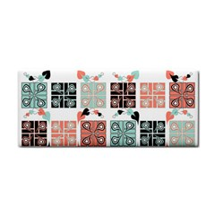 Mint Black Coral Heart Paisley Cosmetic Storage Cases
