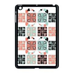 Mint Black Coral Heart Paisley Apple Ipad Mini Case (black) by Nexatart