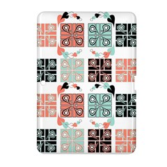 Mint Black Coral Heart Paisley Samsung Galaxy Tab 2 (10 1 ) P5100 Hardshell Case  by Nexatart