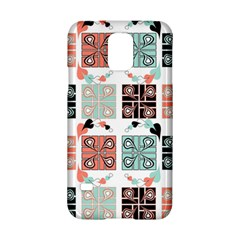 Mint Black Coral Heart Paisley Samsung Galaxy S5 Hardshell Case  by Nexatart