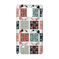 Mint Black Coral Heart Paisley Samsung Galaxy Note 4 Hardshell Case by Nexatart