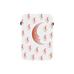 Moon Moonface Pattern Outlines Apple Ipad Mini Protective Soft Cases by Nexatart