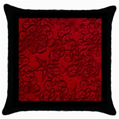 Christmas Background Red Star Throw Pillow Case (black)