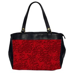 Christmas Background Red Star Office Handbags (2 Sides)