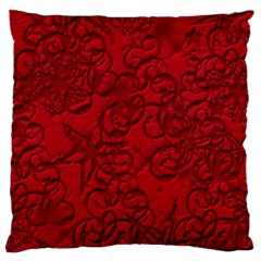 Christmas Background Red Star Large Cushion Case (two Sides)