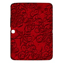 Christmas Background Red Star Samsung Galaxy Tab 3 (10 1 ) P5200 Hardshell Case  by Nexatart
