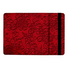 Christmas Background Red Star Samsung Galaxy Tab Pro 10 1  Flip Case by Nexatart