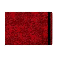 Christmas Background Red Star Ipad Mini 2 Flip Cases by Nexatart