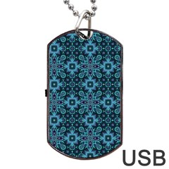 Abstract Pattern Design Texture Dog Tag Usb Flash (two Sides) by Nexatart