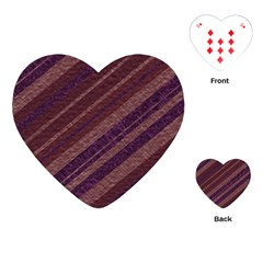Stripes Course Texture Background Playing Cards (heart)  by Nexatart