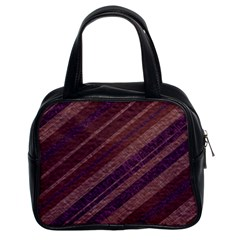 Stripes Course Texture Background Classic Handbags (2 Sides) by Nexatart