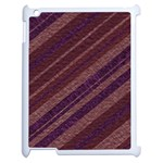 Stripes Course Texture Background Apple iPad 2 Case (White) Front