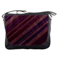 Stripes Course Texture Background Messenger Bags by Nexatart