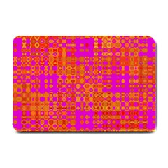 Pink Orange Bright Abstract Small Doormat  by Nexatart