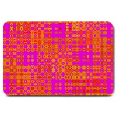 Pink Orange Bright Abstract Large Doormat