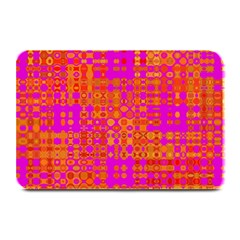 Pink Orange Bright Abstract Plate Mats
