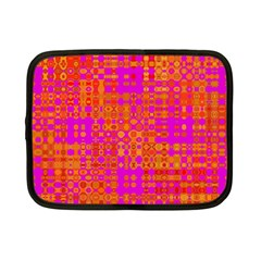 Pink Orange Bright Abstract Netbook Case (small)  by Nexatart