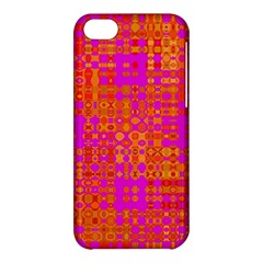 Pink Orange Bright Abstract Apple Iphone 5c Hardshell Case