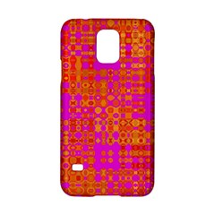 Pink Orange Bright Abstract Samsung Galaxy S5 Hardshell Case