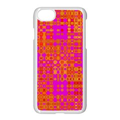 Pink Orange Bright Abstract Apple Iphone 7 Seamless Case (white) by Nexatart