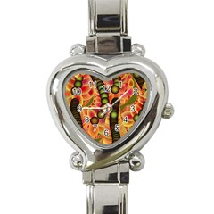 Abstract Background Digital Green Heart Italian Charm Watch