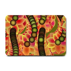 Abstract Background Digital Green Small Doormat  by Nexatart