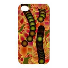 Abstract Background Digital Green Apple Iphone 4/4s Premium Hardshell Case