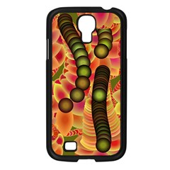 Abstract Background Digital Green Samsung Galaxy S4 I9500/ I9505 Case (black)