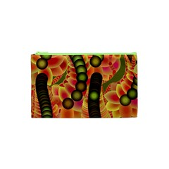 Abstract Background Digital Green Cosmetic Bag (xs) by Nexatart