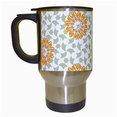 Stamping Pattern Fashion Background Travel Mugs (white) by Nexatart