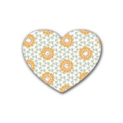 Stamping Pattern Fashion Background Heart Coaster (4 Pack)