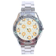 Stamping Pattern Fashion Background Stainless Steel Analogue Watch
